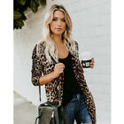Women's Long Sleeve Sweater Top Casual Leopard print Cardigan Outwear Coat Lot