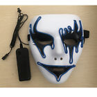 US Sound Reactive LED Mask Sound Activated Street Dance Rave EDM Plur Party Mask