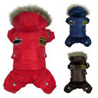 Winter Pet Dog Cat Hoodie Down Jacket Warm Puppy Coat Jumpsuit Outfit Clothes