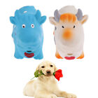Cow Design Dog Sound Toy Soft Latex Puppy Squeaky Chew Training Featch Stuff