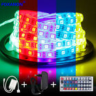 5M 300 Led Strip 5050 RGB SMD Waterproof Lights +44 key IR+12V 3A Power Supply