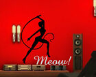 MEOW!!! Sexy women with whip. Hardcore wall stickers high quality 90cm x 90cm UK