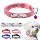 Personalised Dog Collar Reflective Puppy Cat ID Tags Collar Free Enrgaved & Bell