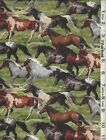 Wild Wings Horses Running Free Panel & Coordinating Fabric SOLD SEPARATELY