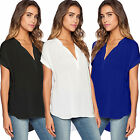 Women's Plus Size V Neck T-Shirt Top Short Sleeve Summer Cas