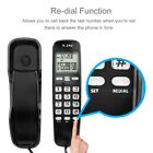Mini Wall Telephone Home Office Hotel Incoming Caller ID LCD Display Landline JS