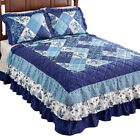Sonoma Triple Ruffle Floral Patchwork Medium-Weight Bedspread image