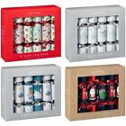 New X-Mass Mini Christmas Crackers 12pk - Novelty,Silver,Red and Blue