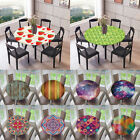 Polyester Elastic Fitted Round Tablecover Table Cloth for Home Catering Cafe