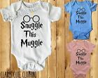SNUGGLE THIS MUGGLE with glasses HARRY POTTER BABY VEST/ GROW /BODYSUIT