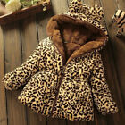 Внешний вид - Toddler Baby Girls Warm Hooded Coat Leopard Outerwea Kids Jacket Clothes Winter
