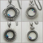 Large Floating Locket Rolo Chain plus 2 FREE Origami Owl Charm Sparkly Crystals image