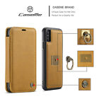 For Apple iPhone X / XS 5.8* Caseme Real Leather Card Wallet Flip Case Cover