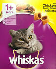WHISKAS 1+ ADULT CHICKEN - 825g 2kg 3.8kg 7kg Complete Dry Cat Food bp Biscuits