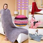 Chunky Knitted Thick Blanket Hand Yarn Wool Bulky Warm Large Soft Bed Sofa Sleep image