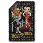 """BETTY BOOP HOLLYWOOD NIGHTS WOVEN THROW BLANKET (36""""X58"""") FREE SHIPPING IN US $55.99 USD on eBay"""