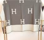 H Avalon Luxury Cashmere Throw Blanket Wool Blend Cape Scarf Home Bed Designer