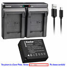DMW-BLE9 Battery or Dual Charger for Panasonic Lumix DMC-GX85 DMC-LX100 DMC-ZS60