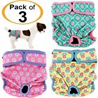 Pack -3pcs Dog Diapers Female Cat LEAK PROOF Waterproof Washable Small Large Pet