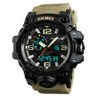 Sport Watch for Men Analog Shock Quartz Golden Rubber Wrist Watch Stopwatch