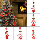 Christmas Tree  Wooden Ornaments Pendant Accessory Xmas Gift Festival Decoration