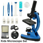 Children's Kids Junior Microscope Science Lab Set With LED 300x-1200x Gift Kit