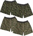 Hanes Red Label Men's 4-Pack Exposed Waistband Woven Camo Boxers