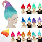 Adult Troll Style Halloween Party Colourful Elf Pixie Wig Hair Cartoon Cosplay image