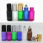 5X~50X THICK 5ml Glass Roll On Bottles Stainless, Glass Roller Essential Oils