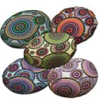 Flat Round Shape Cover*Dandelion Cotton Canvas Floor Seat Chair Cushion Case*AF7