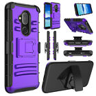 For Alcatel 7/Revvl 2 Plus/7 Folio Phone Case Hybrid Shockproof Hard Stand Cover