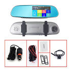 1080P Dual Lens 5'' Vehicle Rearview Mirror Camera Recorder Car DVR Dash Cam Lot