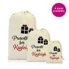 Personalised Name Presents for Christmas Xmas Gifts Gift Santa Sack Bag Stocking