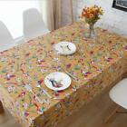 100% Cotton Dinning Coffee Table Cloth Covering OukR Bird #hnhd