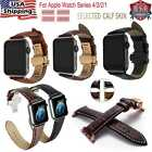 Genuine Leather Watch Band Wrist Strap Herme Belt for Apple Watch Series 4/3/2/1 image