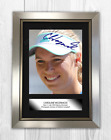 Caroline Wozniacki (2) A4 signed mounted photograph poster. Choice of frame.