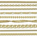 Amberta Genuine Gold Plated on Real 925 Sterling Silver Necklace Chain Italy