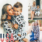 Mother & Daughter Leopard Long Sleeve Casual Sweatshirt Matching Family Clothes