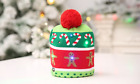 UK Unisex Kids Adult LED Christmas Hat Santa Claus Snowman Xmas Gift Knitted Cap
