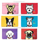 Marc Tetro Women's Card Case Cardholder Yorkie, Boston Terrier, Westie,Pug