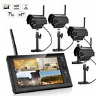 "7""  Wireless Monitor 2.4GHz 4CH CCTV DVR Kit WIFI Cameras Audio Security System for sale  Shipping to Nigeria"