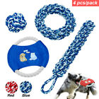 Braided Cotton Rope Dog Toys for Young Dogs Aggressivee Chewers Bite Training