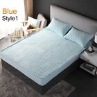 Bed Fitted Sheet Cover Breathable Bedspread Anti-Skid Mattress Pad Mat Protector image