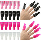 10 PCS Plastic Nail Art Soak Off Cap Clip UV Gel Polish Remover Wrap Tool US SL