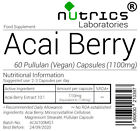 Nutrics® ACAI BERRY Fruit Extract 1100mg Vegan Capsules Wholesale Bulk Buy