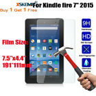 2X Tempered Glass Screen Protector For Amazon Kindle fire 7 2015 5th Generation