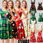 Mother and Daughter Christmas Dress Matching Women Girls Casual Family Gifts US