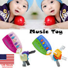 US Baby Car Key kids Musical Keys Baby's Sound and Light Pretend Toy Key chain