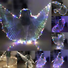 LED Isis Wings Belly Dance Cosplay Glow Show Light Up Costume Festival Wing Wear