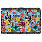ELVIS PRESLEY BLUE HAWAII WOVEN THROW BLANKET FREE SHIPPING IN US